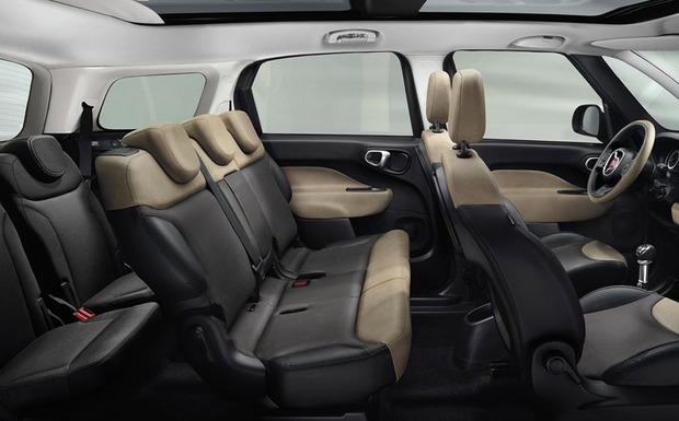 Auch der Siebensitzer 500L Living ist von dem Fiat-Rückruf für den Knie-Airbag betroffen. (Foto: Fiat)
