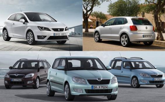 Rückruf für den 1.2-TDI: Die betroffenen Modelle im VW-Konzern im Überblick (ohne Praktik). (Foto: Volkswagen/Seat/Skoda)