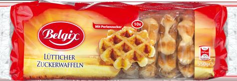 Rückruf von Waffeln, die bei Lidl verkauft werden: Belgix Zuckerwaffeln, 550g und Belgix Zuckerwaffeln mit Milchschokolade, 455g können mit Lösungsmitteln verunreinigt sein. (Foto: Biscuiterie Thijs N.V.)
