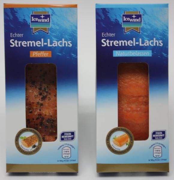 Die Produkte ICEWIND Stremel-Lachs naturbelassen und Pfeffer können mit Krankheitserregern verseucht sein. (Foto: Icewind)