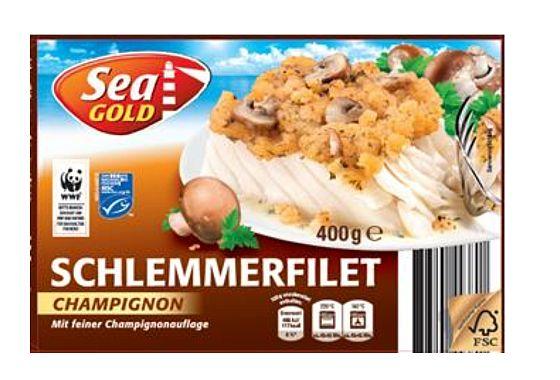 Im Schlemmerfilet Champignon der Handelsmarke Sea Gold können Kunststoffteile enthalten sein.
