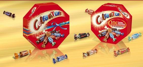 Mars ruft wegen Plastikteilchen europaweit Millionen Produkte zurück, darunter auch Celebrations, eine Mischung von Schokoriegeln im Miniaturformat. (Foto: Screenshotausschnitt von der Produktseite - Mars Incorporated)