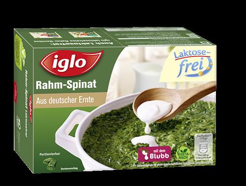 Kann Plastikteilchen enthalten: Zwei Chargen des laktosefreien Rahm-Spinats ruf Hersteller iglo vorsichtshalber zurück.
