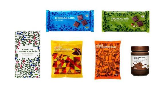 Der Rückruf wurde auf die abgebildeten sechs Schokoladenprodukte erweitert. (Bild: IKEA)