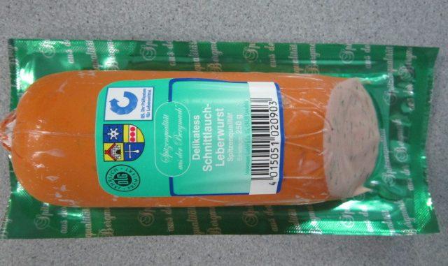 Kann von Listerien befallen sein: Steinemanns Delikatess Schnittlauch Leberwurst. (Foto: Steinemann GmbH & Co. KG)