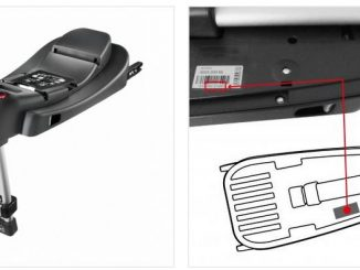 Bestimmte Chargen der Recaro fix Basis weisen einen Sicherheitsmangel auf. Die Seriennummer findet man auf dem Karton und (wie auf dem Bild gezeigt) auf der Unterseite des Produkts. (Fotos: Recaro)