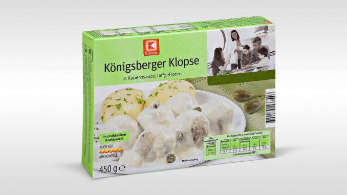 Rückruf: K-Classic Königsberger Klopse aus der Tiefkühlung. (Foto: Kaufland)