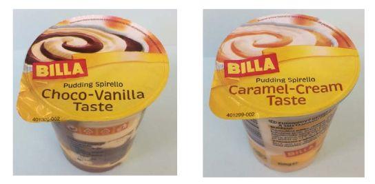 Zwei Puddings der Hausmarkte Billa können Metallsplitter enthalten. (Foto: OMIRA Oberland-Milchverwertung GmbH)