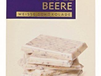 """Kann mit Salmonellen verunreinigt sein: Weiße Schokolade mit Heidelbeeren von """"Das Exquisite"""" (Foto: Rossmann)"""