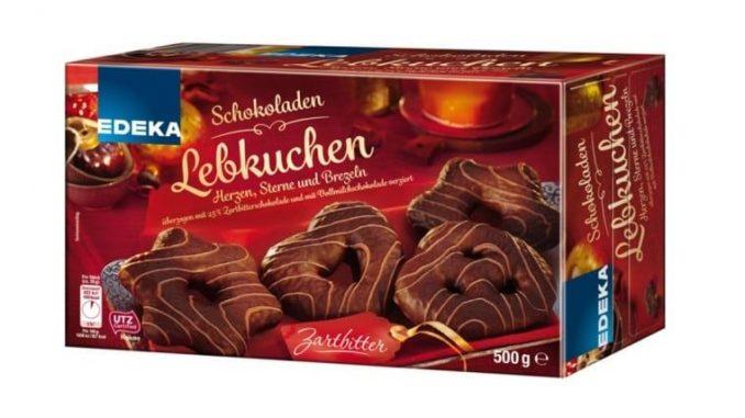 Eine Charge der Schokoladen-Lebkuchen der Marke EDEKA können dunkelgrüne Kunststoffteilchen beinhalten. (Foto: EDEKA)