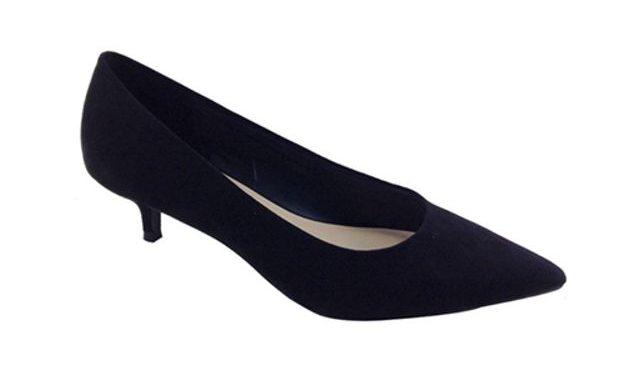 Primark Damenschuh Wide Fit Kitten Heel Court Shoe