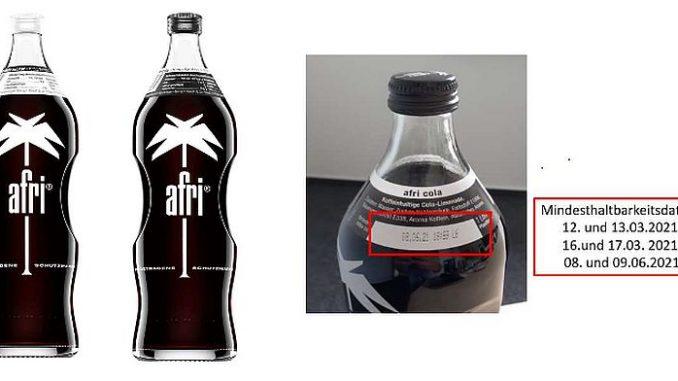 afri Cola Rückruf